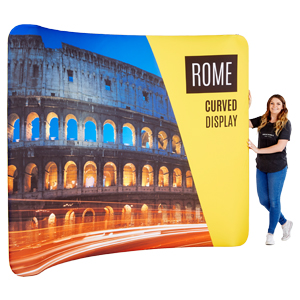Backdrop Rome Curved Display