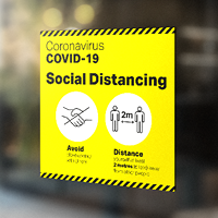 Social Distancing - Window stickers